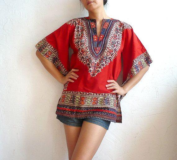 Vintage Batik blouse