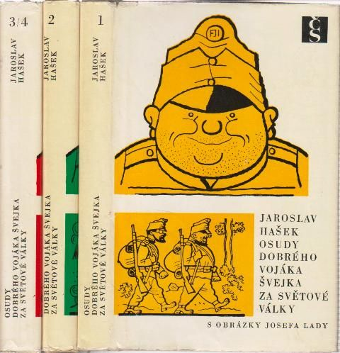 Josef Lada – Hasek's The Good Soldier Švejk in 3 volumes