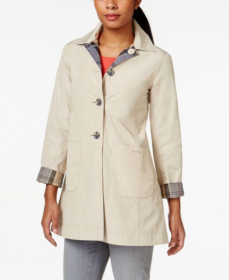 Barbour Derby Mac Reversible Raincoat NWT MSRP $349 #Barbour #Raincoat