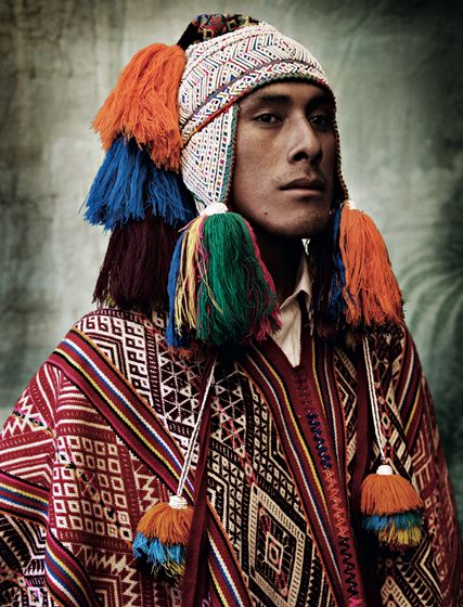 Amazing color and patter in 'Peru', by famed fashion photgrapher Mario Testino #WilliamsSonoma #globalstyle #interiordecorating
