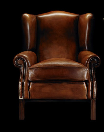 leather bergère wingchair HENRY THOREAU Fleming & Howland