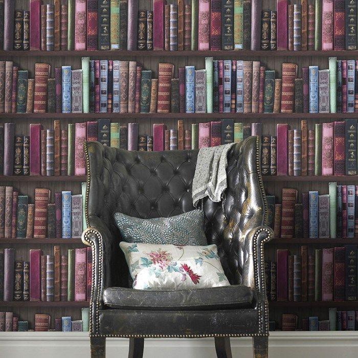 Book Shelf Wallpaper   Graham  Brown