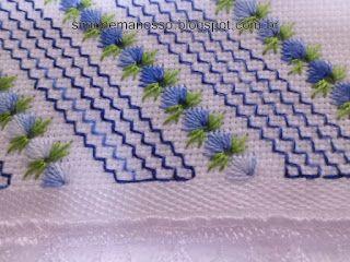 Casabella Artesanato: Toalhas bordadas no ponto ilhos