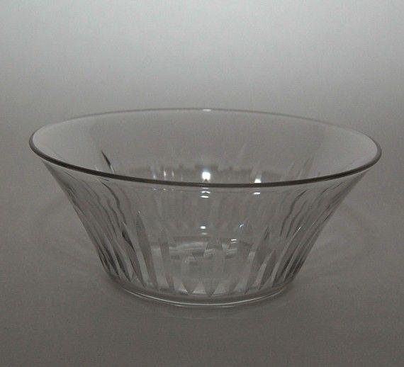 Art Deco Finger Bowls Hand Cut Glass Rare Matching by Abundancy, $165.00