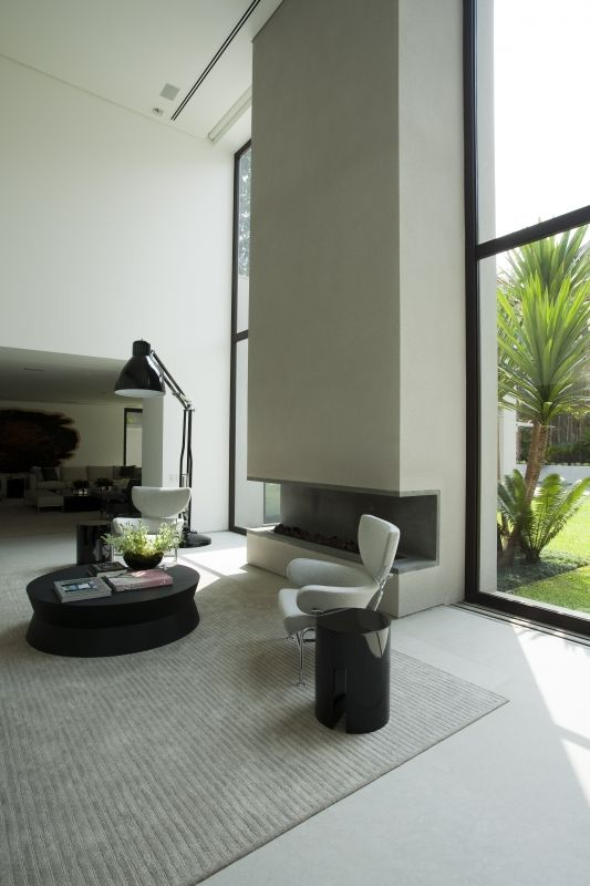 RESIDENCIA SÃO PAULO II OR A SECOND POSSIBILITY OF A FIRE PLACE AND WINDOWS IN FRONT LOUNGE SITTING ROOM