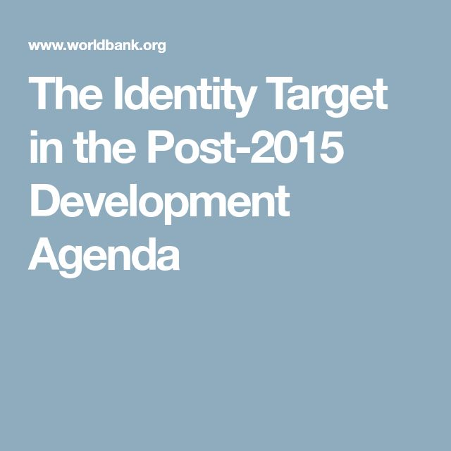 The Identity Target in the Post-2015 Development Agenda