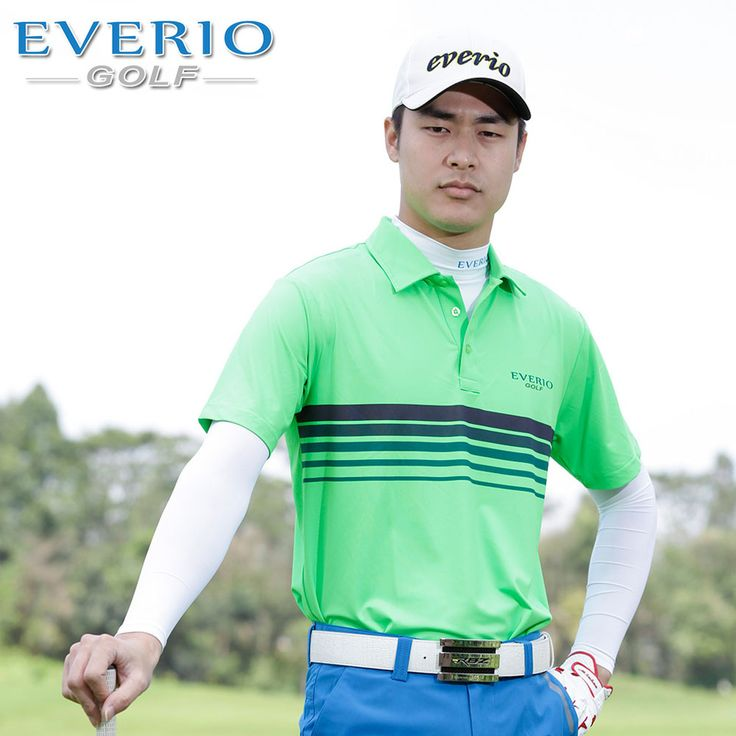 EVERIO GOLF t-shirt wholesale manufacturers china breathable custom cheap mens golf dry fit t shirt