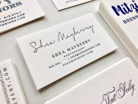 Letterpress Business Cards Calling Card Custom Calligraphy Etsy Letterpress Business Cards Stunning Business Cards Letterpress