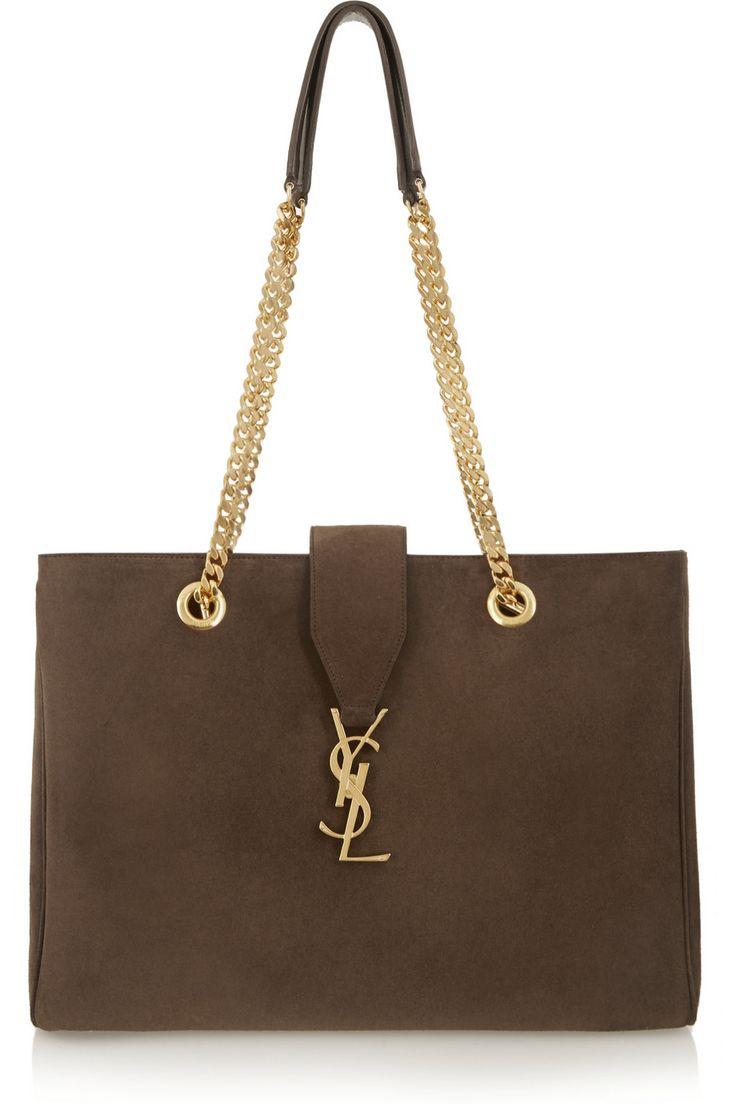 Saint Laurent | Monogramme suede shoulder bag | NET-A-PORTER.
