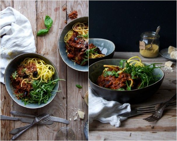 Healthyfied Spaghetti Amatriciana the His & Hers way at www.Earthsprout.com