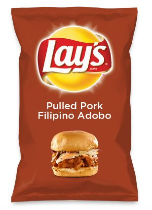 Wouldn't Pulled Pork Filipino Adobo be yummy as a chip? Lay's Do Us A Flavor is back, and the search is on for the yummiest flavor idea. Create a flavor, choose a chip and you could win $1 million! https://www.dousaflavor.com See Rules.