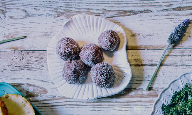 cacao and cardamom bliss balls