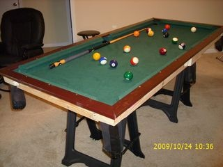 small diy pool table