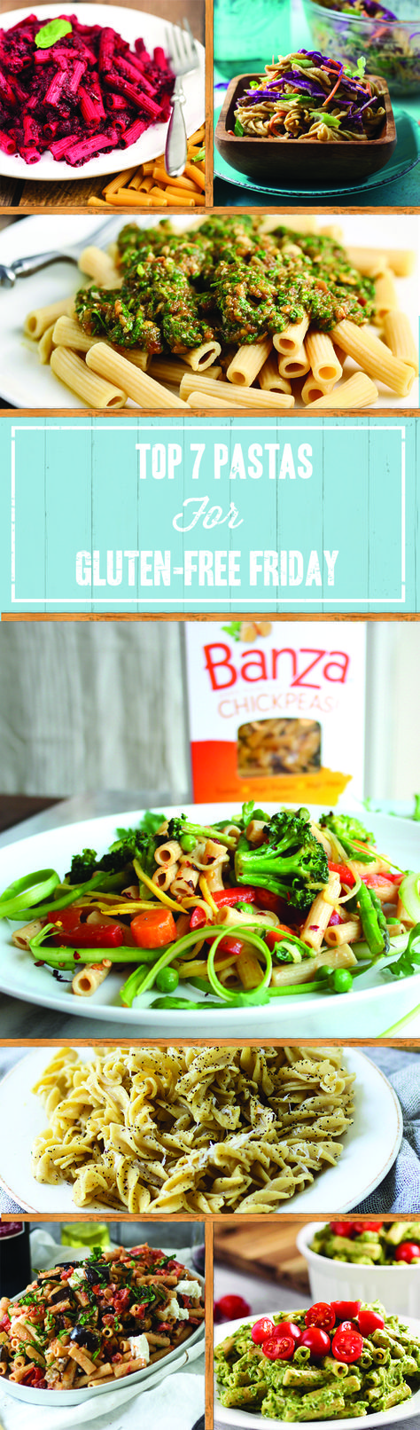 Get ready for a gluten-free friday with these healthy (and tasty!) gluten-free pasta recipes by Banza.