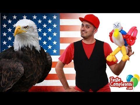 Balloon Eagle 4th July - Palloncino modellabile Aquila - 4th July - Palloncino Aquila Americana - Festeggiamo insieme ai nostri amici americana il 4 Luglio, giorno dell'indipendenza degli Stati uniti d'America. Per questa occasione vedremo come realizzare un'Aquila con i colori della bandiera americana.