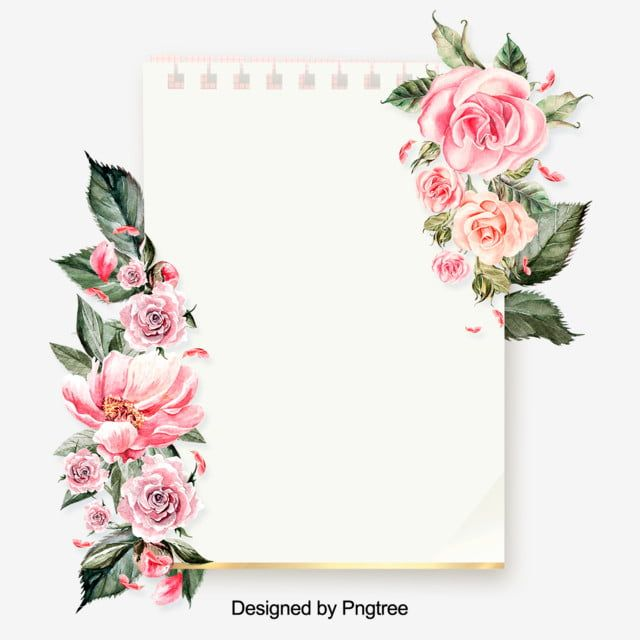 Download Premium Vector Of Floral Rectangular Frame On A Pink Concrete Pink And White Background Rose Frame Flower Frame