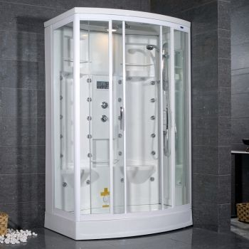 The Ariel AmeriSteam ZA213 Steam Shower Will Fit Into Any Traditional Style Bathroom And Bring