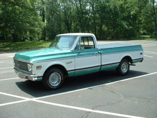 1972 Chevrolet C10 Cheyenne Super. This EXACT Model & Color.