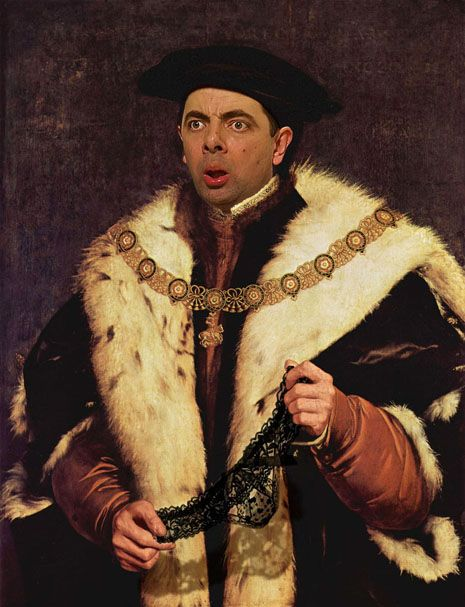 Mr. Bean digitally painted into historical portraits | Dangerous Minds--i adore each and every one of these!