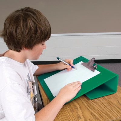 Slant boards for writing adjustable standing