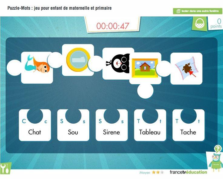 Puzzle-Mots : associer images et mots (petit jeu de vocabulaire pour les élèves !)