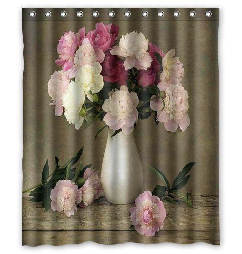 """Европейский стиль элегантный ваза с цветами на заказ занавески для душа уолл ванной декора бесплатная доставка 36 x 72 """" 48 x 72 """" 60 x 72 """" 66 x 72 """" купить на AliExpress"""