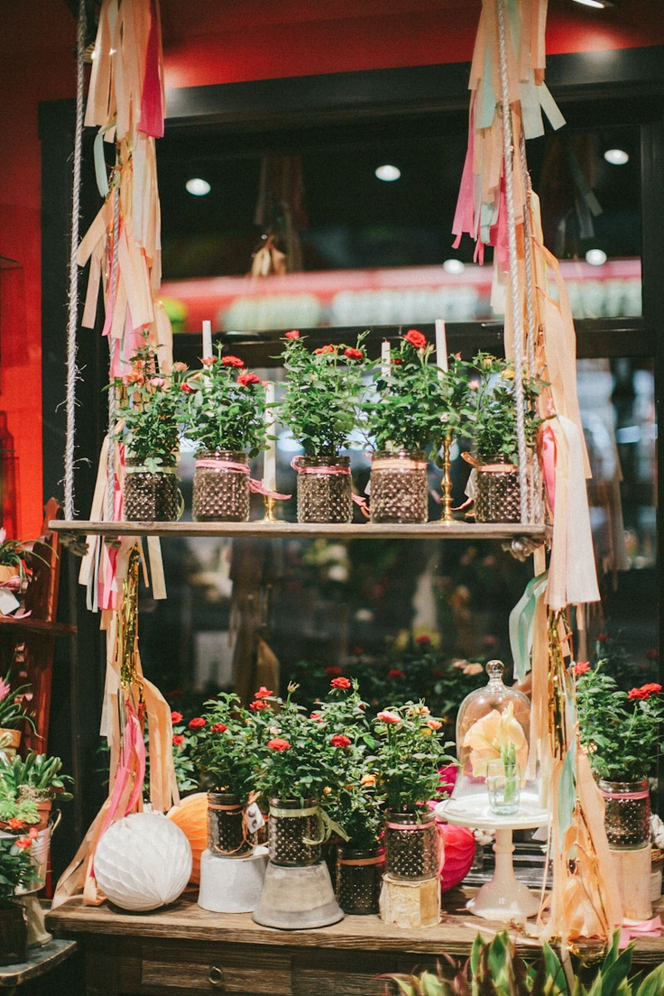 Celsia Florist window display. Styling by @Spread Love Events