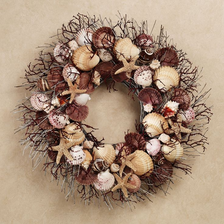 17 best images about sea shell wreaths on pinterest sea for Seashell wreath craft ideas