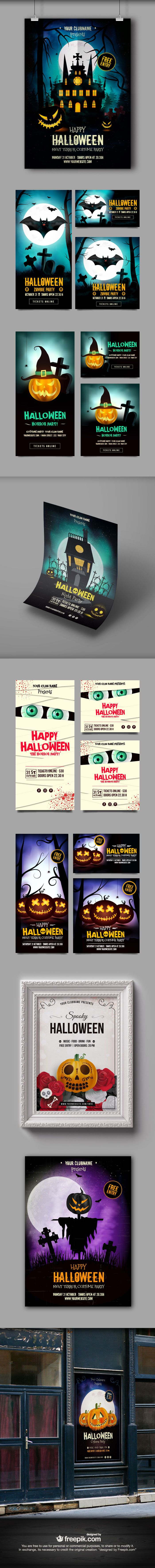 Free Halloween Poster and Banner Templates (exclusive)