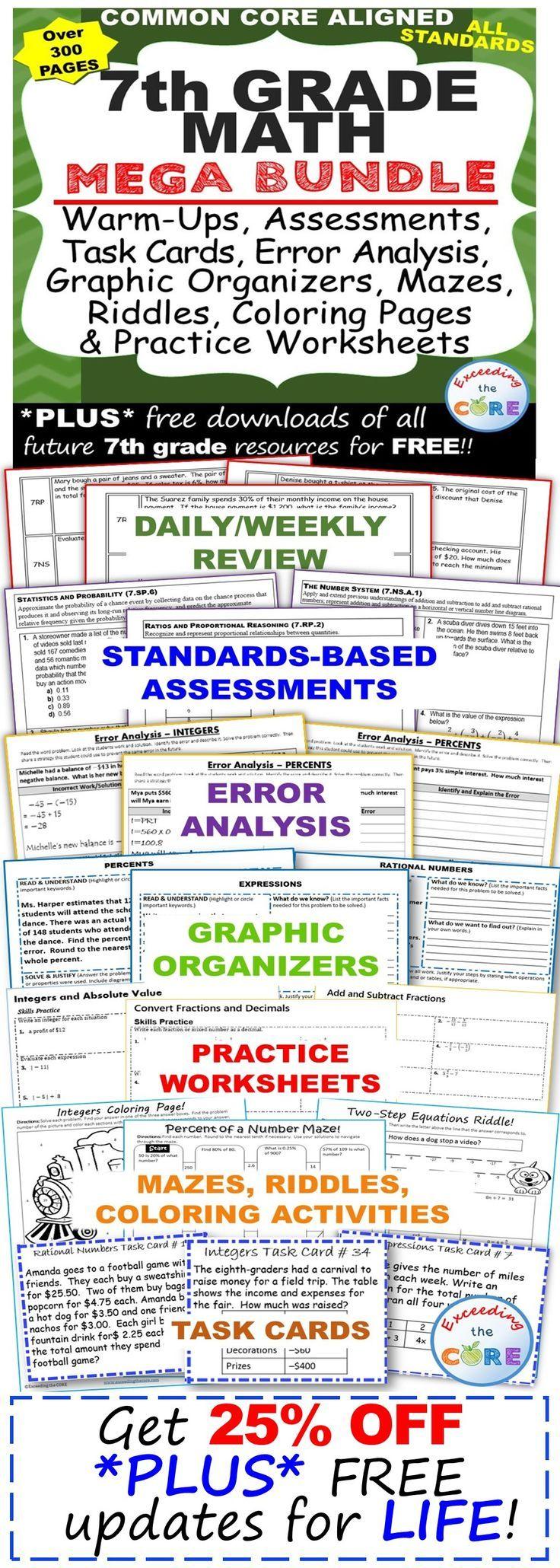 Free Worksheet Math Warm Up Worksheets die besten 17 ideen zu proportions worksheet auf pinterest 7th grade math common core assessments warm ups task cards error analysis