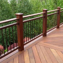 We design and install railings in a variety of styles and materials — each selected to bring out the best in your deck.