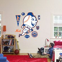 New York Mets Throwback Logo Wall Graphic