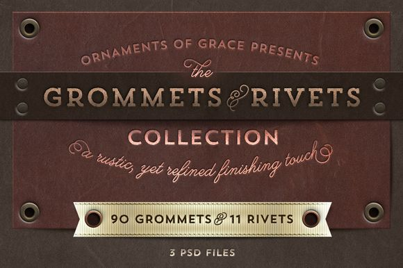Check out The Grommets & Rivets Collection by Ornaments of Grace on Creative Market