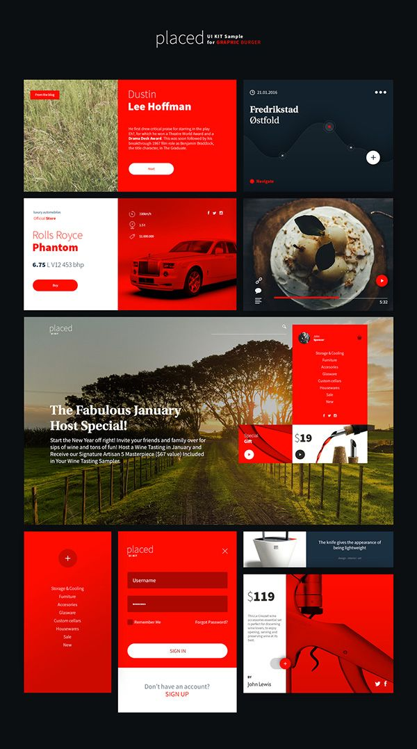 Placed UI Kit – Free Sample | GraphicBurger