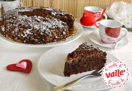 Torta al cioccolato con crema al Mou #sanvalentino #cioccolato
