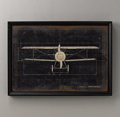 15 best blueprint art images on pinterest blueprint art aircraft model g airplane blueprint wall art restoration hardware baby child malvernweather Image collections