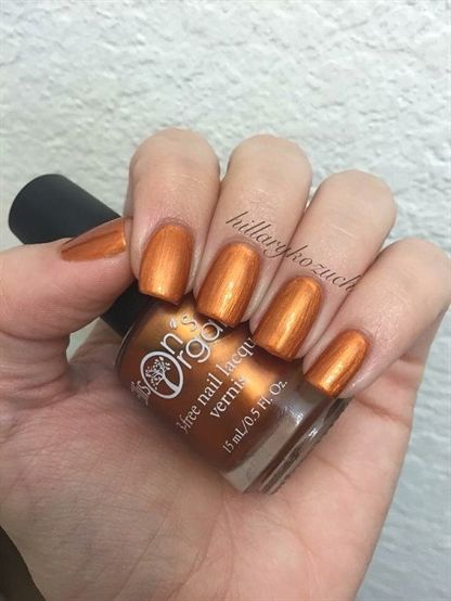 Pumpkin Everything – Halloween and Fall metallic orange nail polish – Fall Nail …