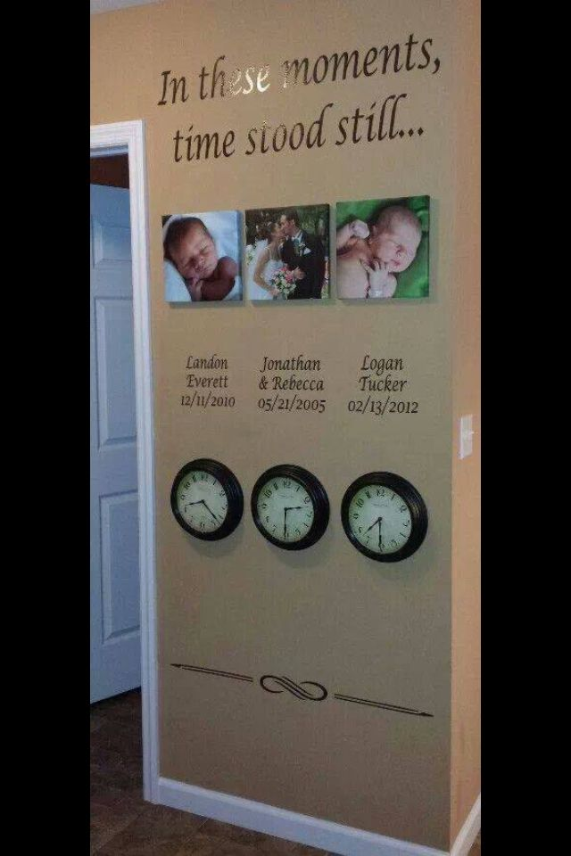 In These Moments Time Stood Still Wall Decals Wedding
