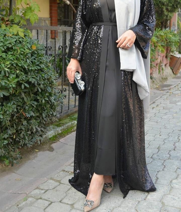 Black Abaya Abaya Tarzi Abaya Modasi Elbise Dugun