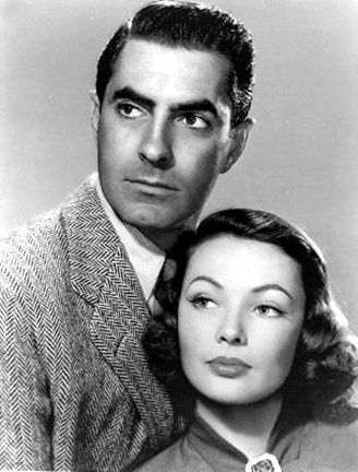 Tyrone Power and Gene Tierney in The Razor's Edge