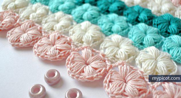Crochet Flower - Tutorial * ༺✿ƬⱤღ https://www.pinterest.com/teretegui/✿༻