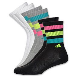 The+adidas+3-Pack+Superlite+ClimaCool+Retro+Women's+Crew+Socks+offer+cushioning+on+the+ball,+heel+and+toe+so+your+toes+are+comfortable.+Ventilated+ClimaCool+keeps+you+cool+and+dry+while+odor-resistant+treatment+keeps+your+socks+smelling+fresher+longer.+No+show+length.+3-Pack.