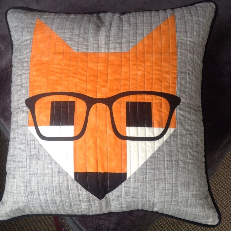 My first fox pillow...given to Veronica