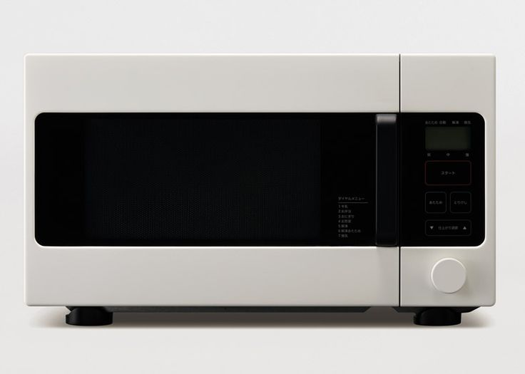 Microwave oven designed by Naoto Fukasawa for Muji.