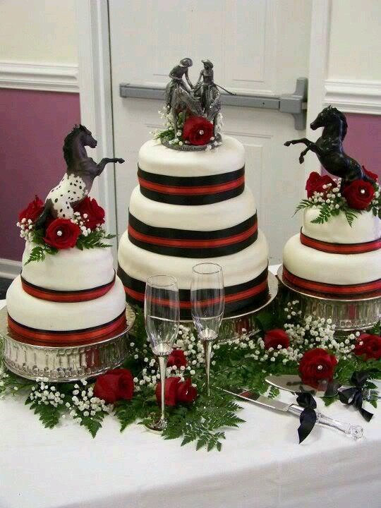 Horse cake | Western wedding cakes | Pinterest
