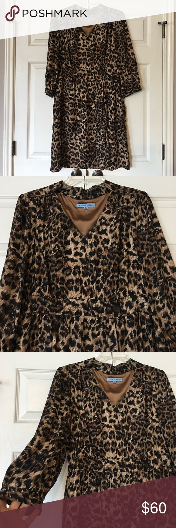 Antonio Melani - Leopard Print Dress Beautiful leopard print dress! Excellent Condition! Worn once for dinner (couple hours) then never again! Comes from a smoke free home! No stains, no rips, no marks! Price is definitely negotiable and I'm always open to all offers. Measures 38.5 inches from shoulder to hem! ANTONIO MELANI Dresses