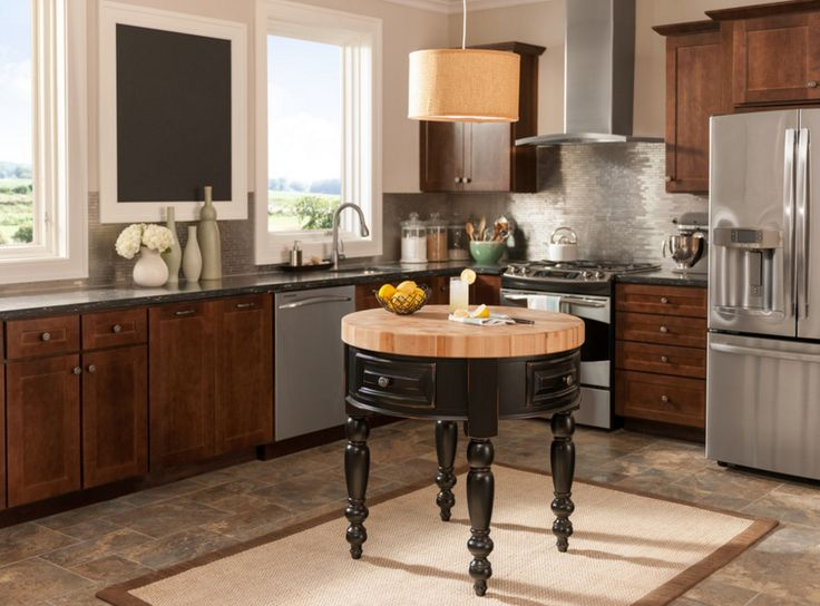 Le Petit Round Kitchen Island Available @ CoachBarn.com In 2 Finishes And  Ships In