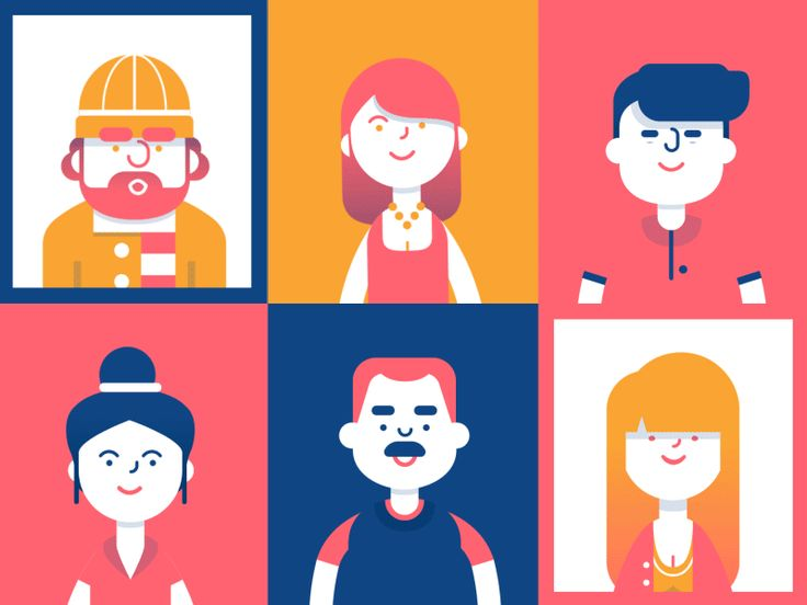 Dribbble - Character grid by Oliver Sin