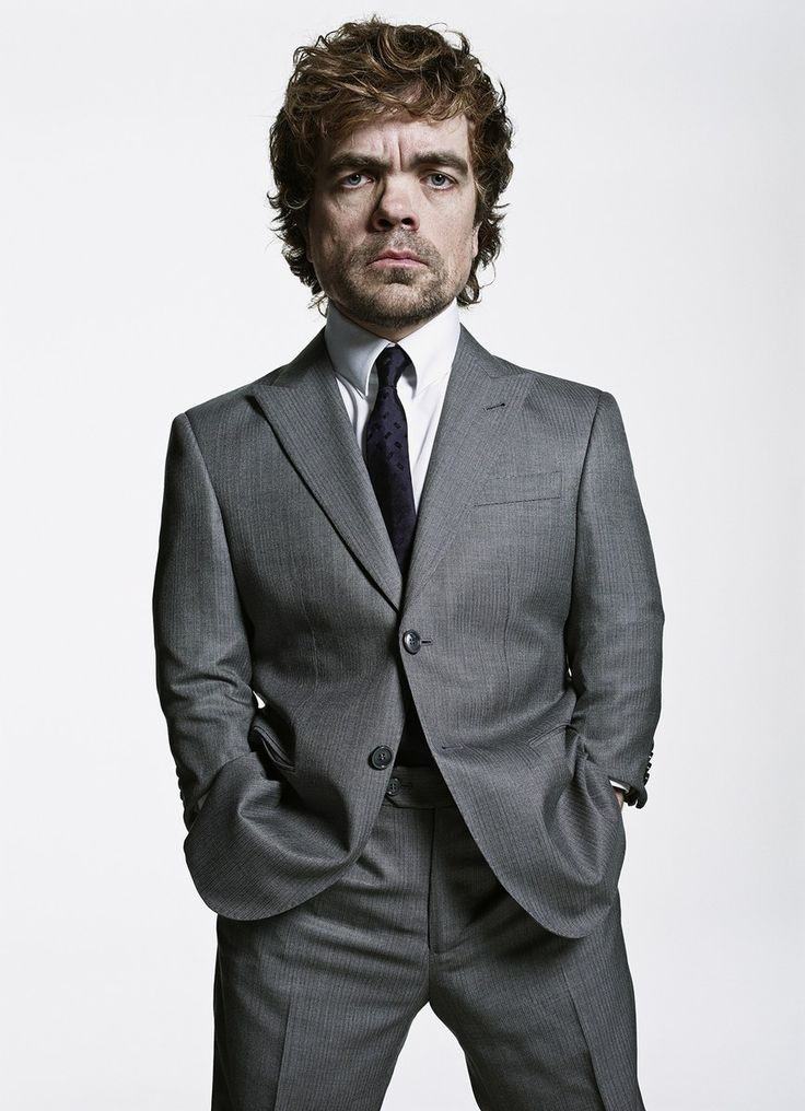 Peter Dinklage in a custom-made Giorgio Armani suit, shirt, and tie... Nothing more to say... The looks speaks for itself...