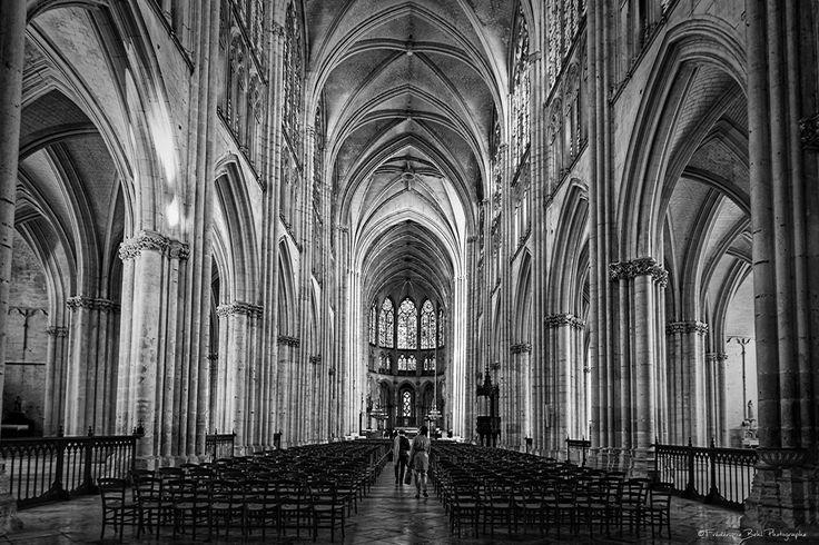 Vue d'ensemble de la cathédrale Saint Pierre et Saint Paul de Troyes.